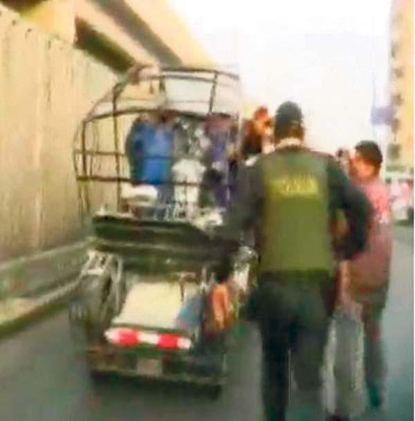 Ladrones en mototaxi arrastran a mujer embarazada