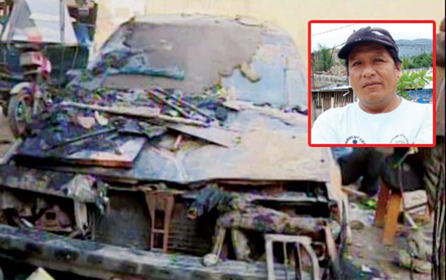 Traficantes de terrenos queman casa con familia adentro