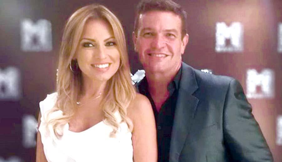 Karina Rivero y el actor Orlando Fundichely