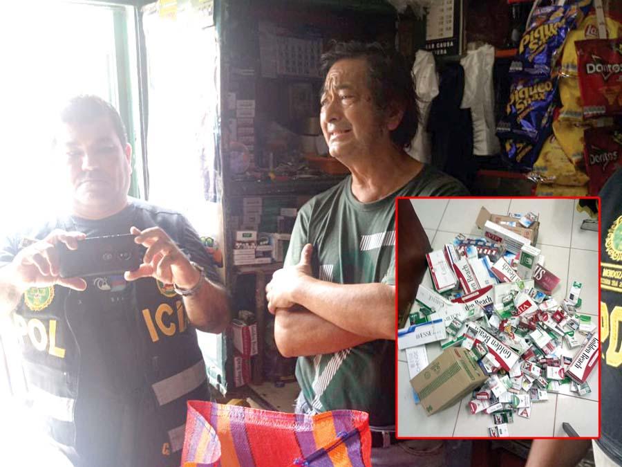 Incautan 60 mil cigarrillos de contrabando