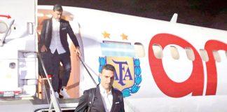 La Selección argentina llegó a Salvador de Bahía