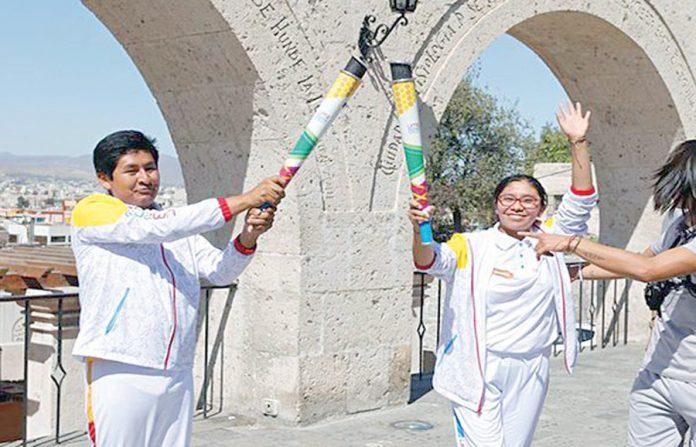 Juegos Panamericanos Lima 2019 - Antorcha en Arequipa