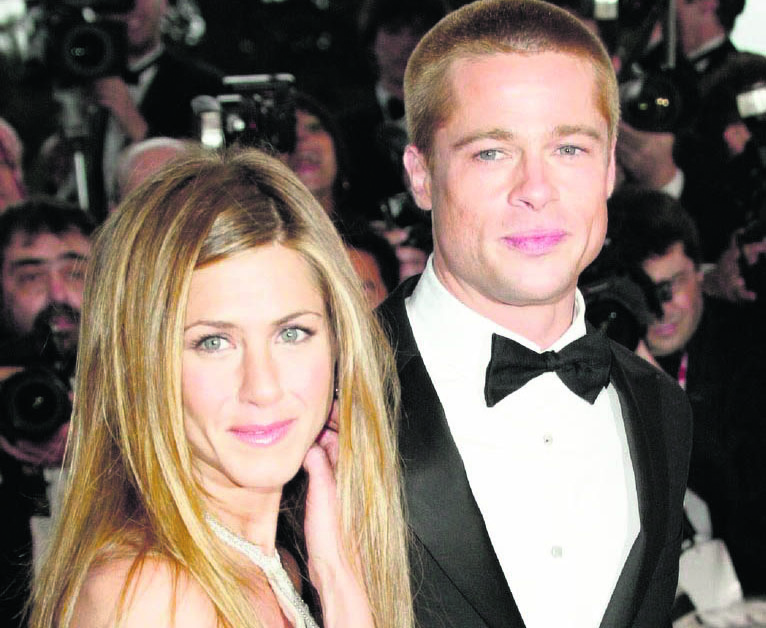 Jennifer Aniston con Brad Pitt