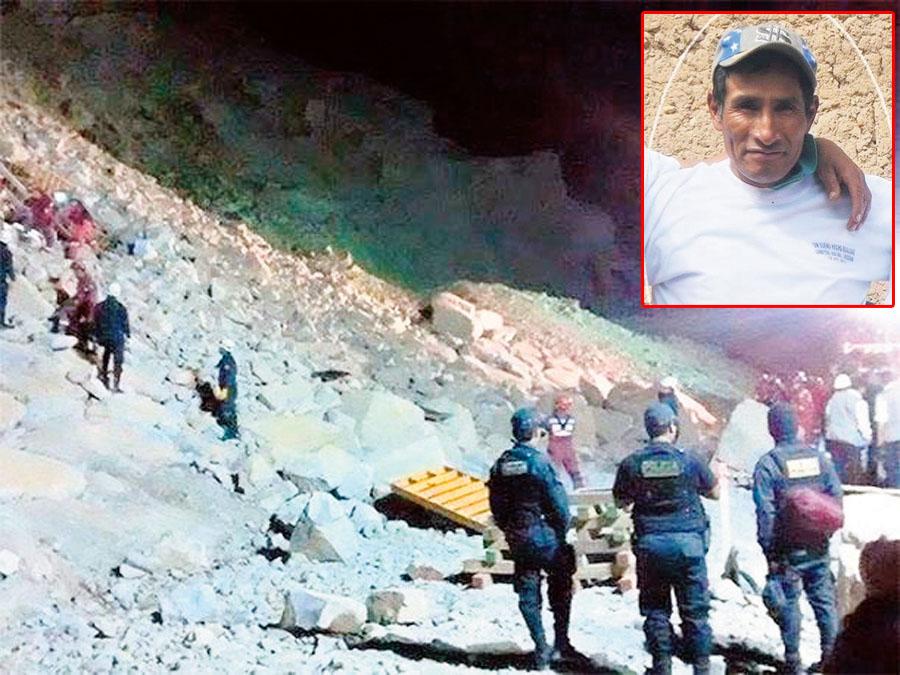 obreros mueren aplastados por piedras