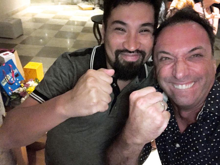Aldo Miyashiro y Carlos Galdos