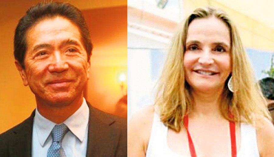 Jaime Yoshiyama y Susana de la Puente