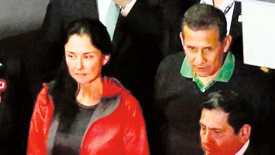 Ollanta Humala y Nadine
