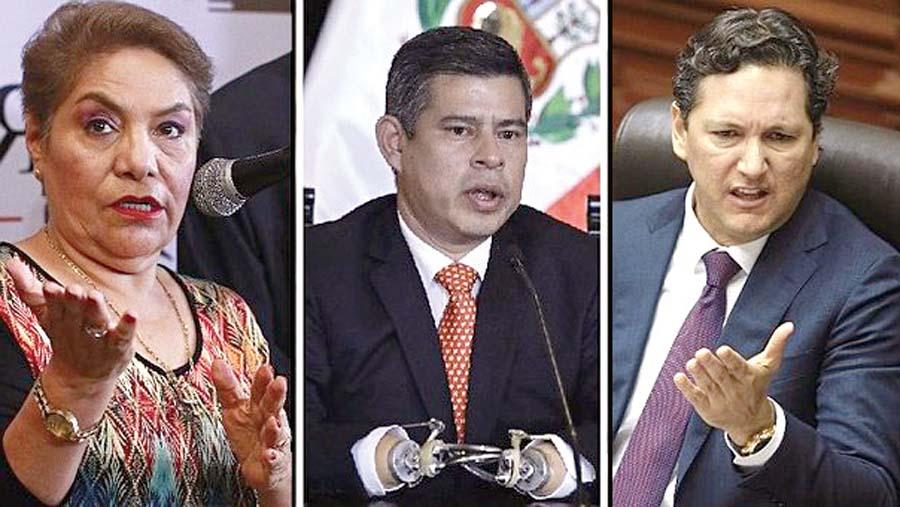 Luz Salgado, Luis Galarreta y Daniel Salaverry