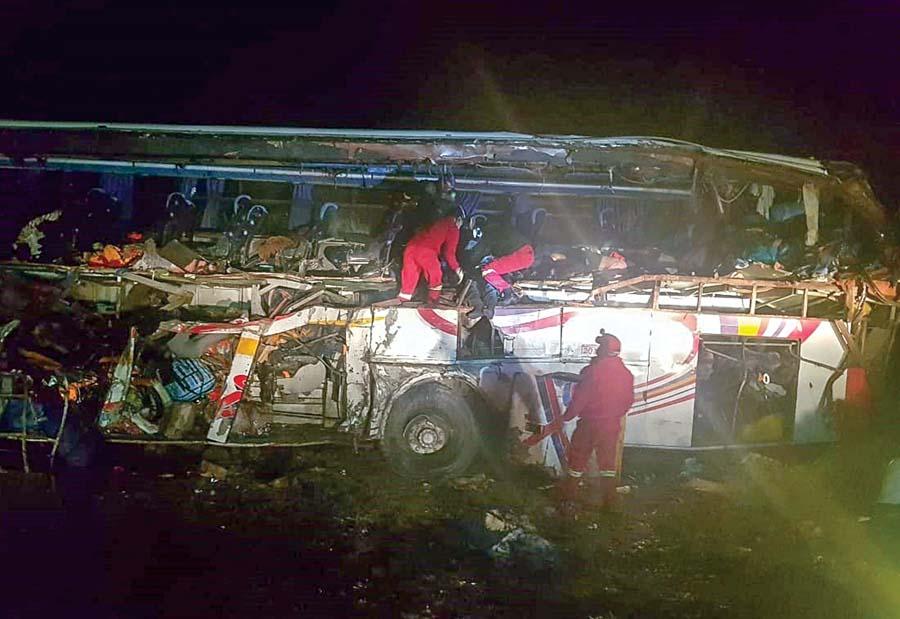 accidente en Bolivia