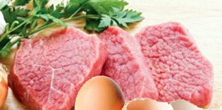 Carne y huevo