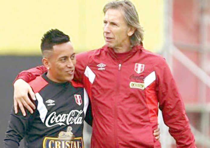 Christian Cueva y Ricardo Gareca