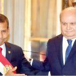 Ex presidente Ollanta Humala y su ex ministro de Defensa, Pedro Cateriano