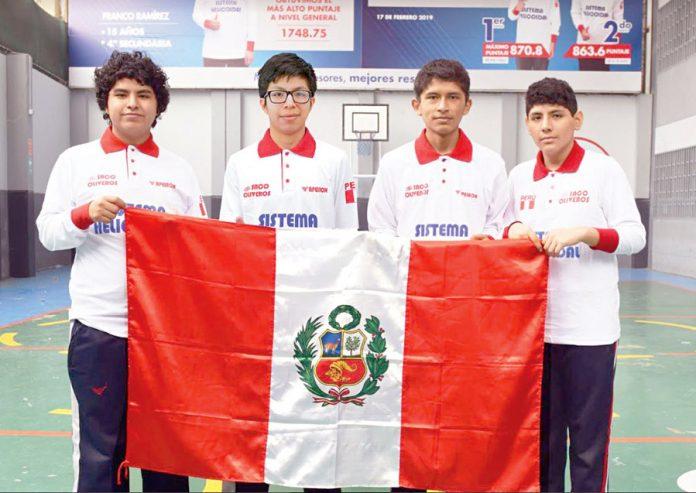 Ángelo Farfán, Joaquín Guerra, Mijaíl Gutiérrez y Joseph Altamirano obtuvo cuatro medallas de oro en la 6.ª Olimpiada Internacional de Geometría de Irán