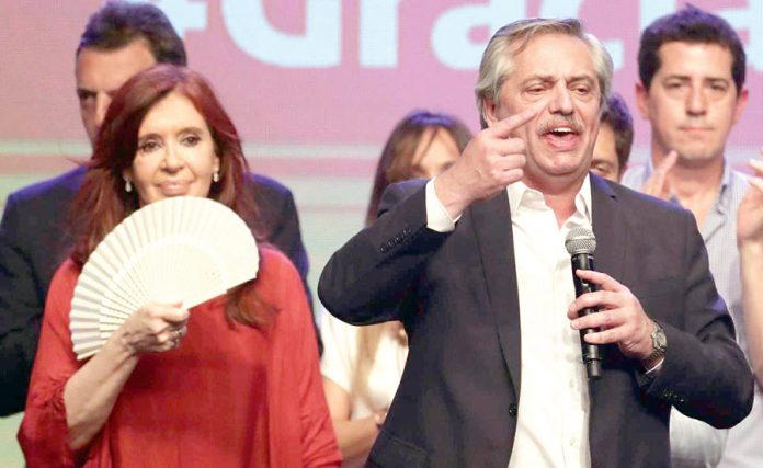 Triunfo del abogado Alberto Fernández, Junto a él, gobernará la ex mandataria Cristina Fernández de Kirchner