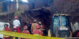 Deslizamiento de tierra en construcción civil