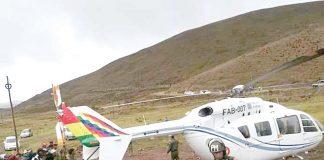 Evo Morales se salva de accidente en helicóptero