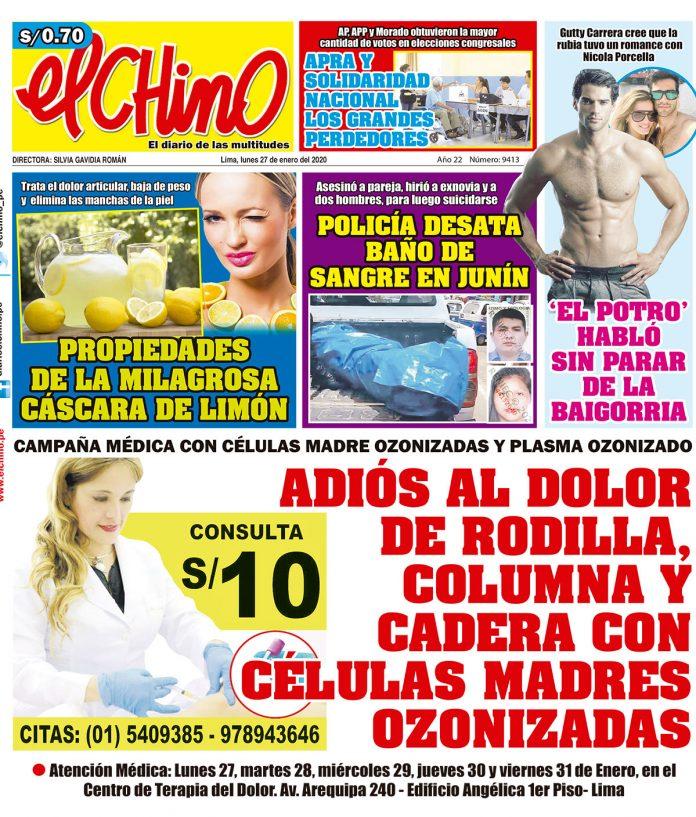Portada impresa – Diario El Chino (27/01/2020)