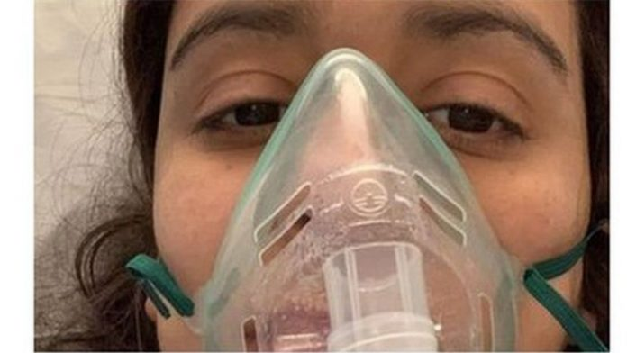 Ria Lakhani, paciente en recuperación.