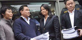 Hiro Fujimori junto a su familia.