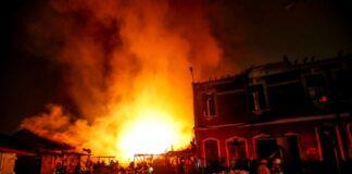 Incendio en Monserrate