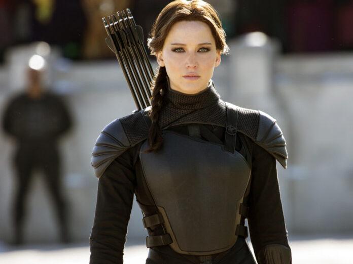 Jennifer Lawrence como 'Kadniss Everdeen' en la tetralogía de