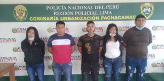 Jesús Alfredo Chávez Paima (37), Juan Felipe Juárez Echevarria (21), José Sebastián Pomajambo Sifuentes (22), Ruth GianelaHuauta Quinto (21) yGilary Nicole Molina Villanueva (20).