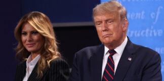 Donald Trump y su esposa