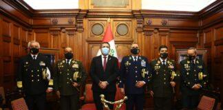 Merino se reunió con comandantes generales de las FF.AA Y PNP