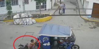 Veneco tiró dedo a peruano por asalto con mototaxi