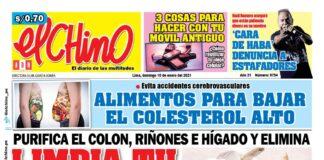 Portada impresa – Diario El Chino (10/01/2021)