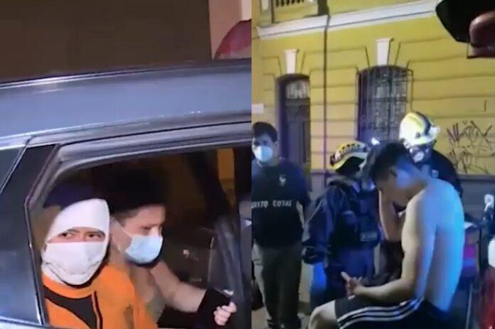 Pelea entre familia e inquilinos dejó dos heridos