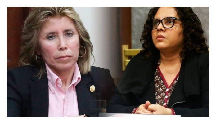 fiscales Rocío Sánchez Saavedra y Sandra Castro Castillo