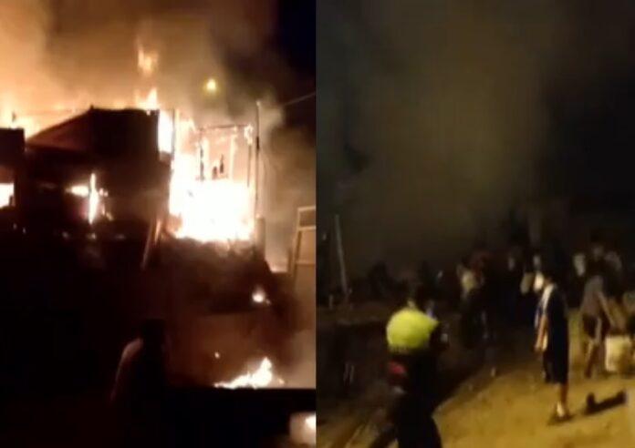 Hombre prendió fuego a casa de su expareja