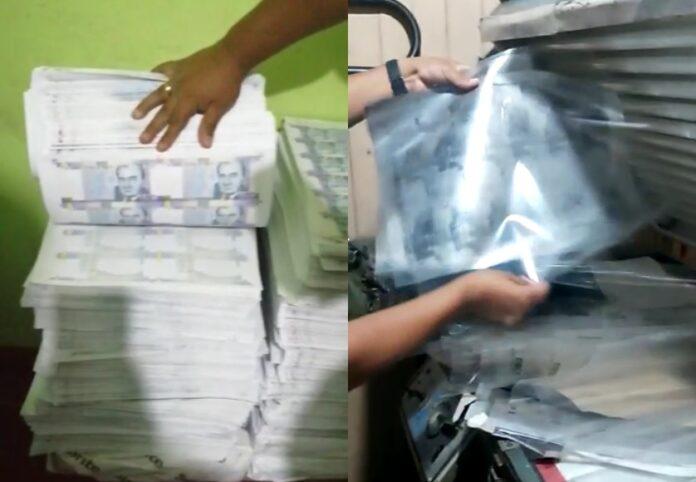 Policía sorprende a falsificadores con S/ 30 millones bambas