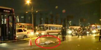 Bus del corredor Morado mata a transeúnte en el Rímac