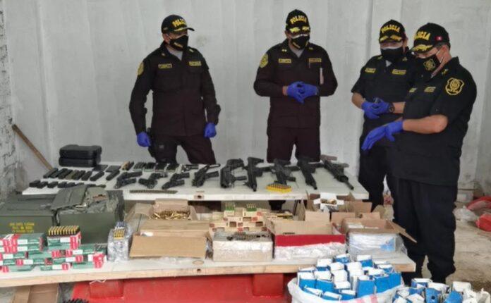 Organización criminal tenía armas, municiones y droga
