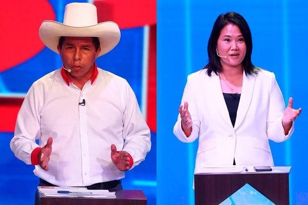 Pedro Castilloy Keiko Fujimori
