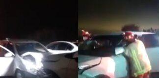 Conductor dejó nueve heridos tras provocar triple choque