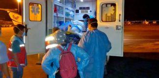 Traslado de heridos a Lima