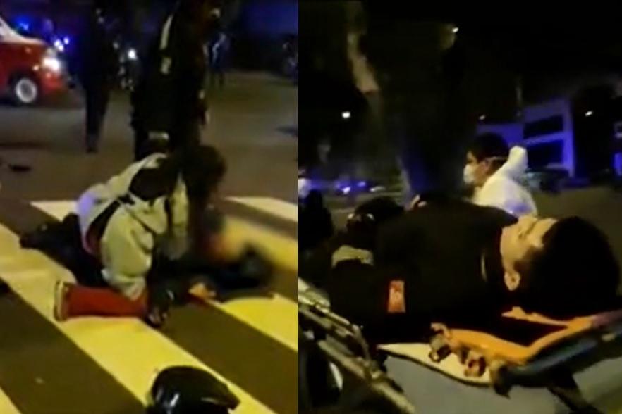 Sereno quedó delicado tras ser atropellado por patrullero