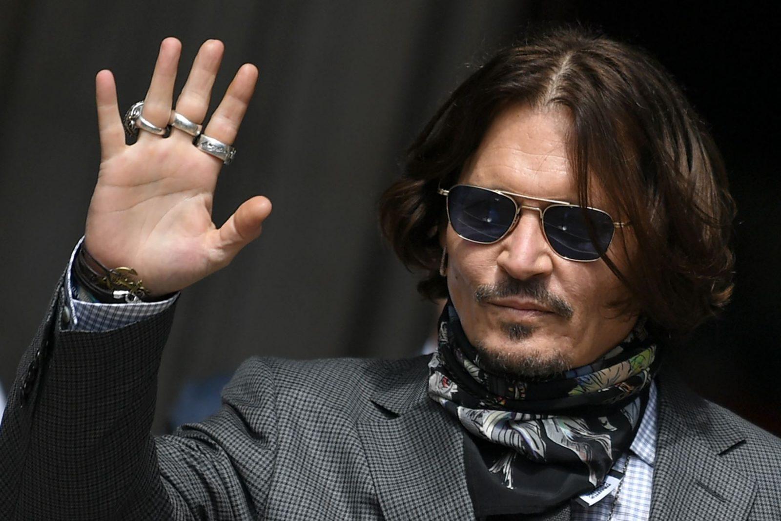 Johnny Depp apareció en el Festival de Deauville