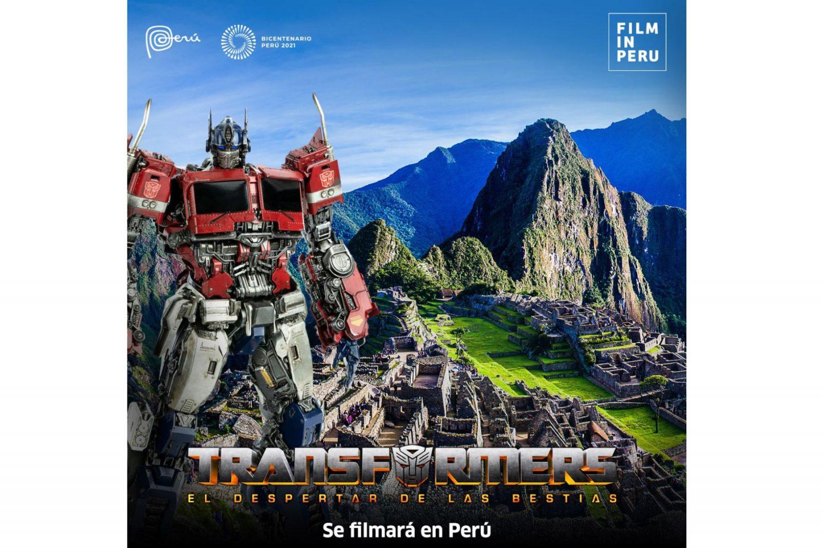 La película Transformers se continua grabando en Machu Picchu