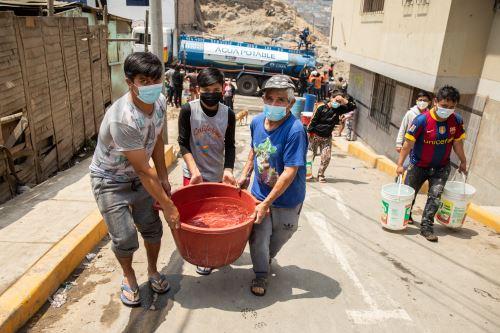 Sedapal repondrán servicio de agua en San Juan de Lurigancho