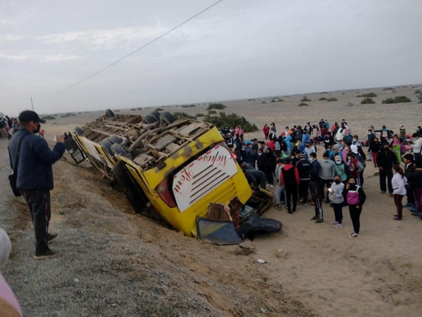 Accidente en la Panamericana Norte deja al menos 15 muertos