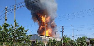 Explosiones desataron infierno en una envasadora de gas