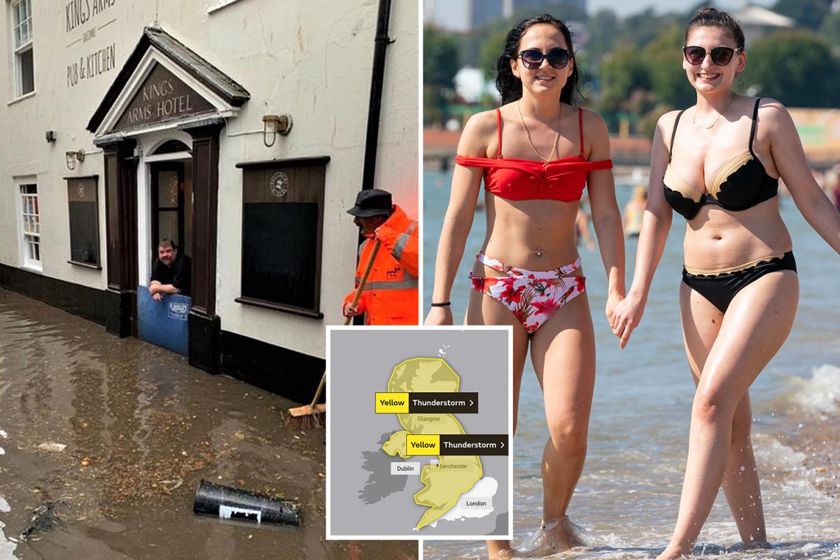 La ola de calor de Gran Bretaña termina dramáticamente
