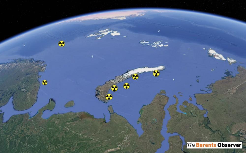 Reactor nuclear de un submarino encontrado en el mar de Kara