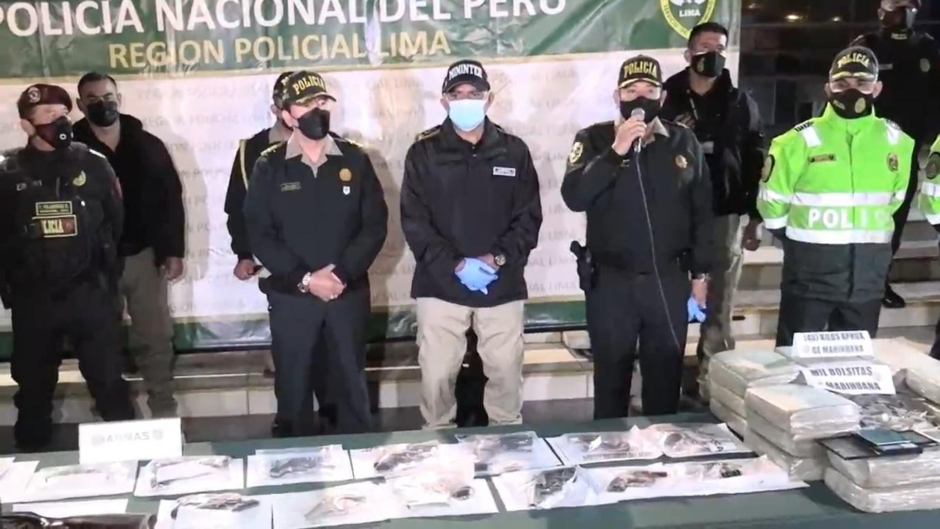 103 delincuentes cayeron con armas y drogas