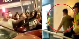 Policía salva de ser linchado tras arrollar a dos personas