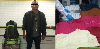 Dos 'burriers' intentaban volar con 14.8 kilos de cocaína
